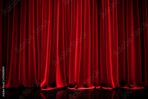 Fotomural  curtain in a theater