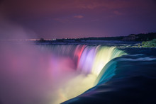 Niagara Falls At Night With Li...