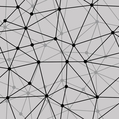 Obraz na Plexi Minimalistyczny abstract black and white net seamless background