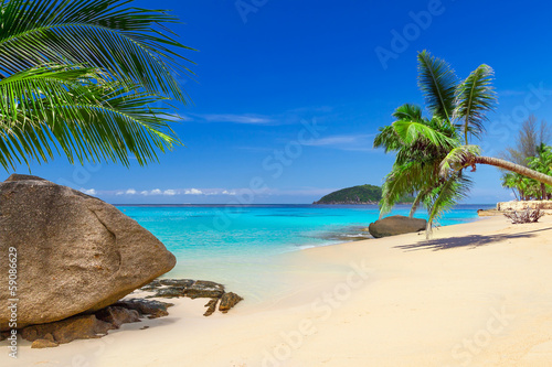 Tropical beach scenery in Thailand