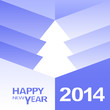Happy New Year Christmas Tree design