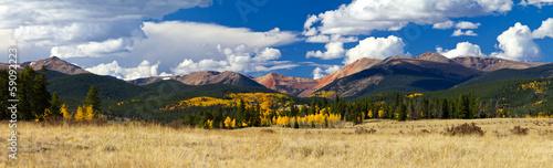 Colorado Rocky Mountain Fall Panoramic Landscape
