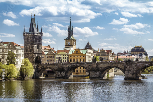 Tuinposter Praag Prague, Charles Bridge (Karluv Most)