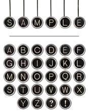 Vintage Typewriter Keys Word Kit