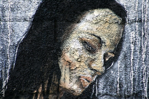 maladie de peau,visage,peinture Wallpaper Mural