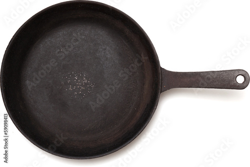 old cast iron frying pan