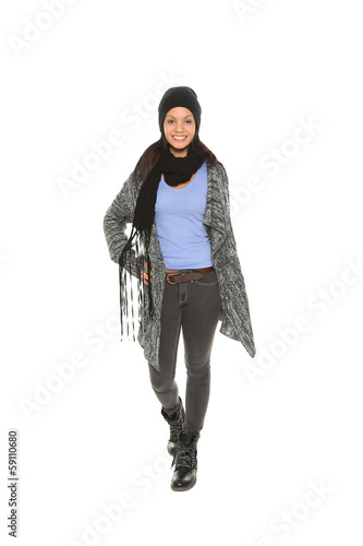 best service 3a052 80ec5 Frau im Mantel - Buy this stock photo and explore similar ...