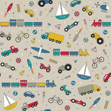 traffic elements pattern on beige background
