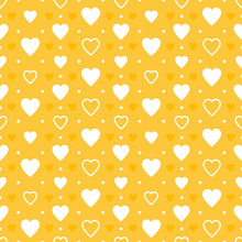 Yellow Hearts Pattern