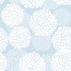 FototapetaCute unique floral card in blue and white for winter holidays