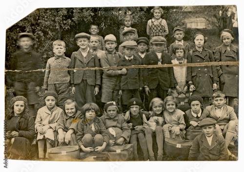 kids, classmates - circa 1940