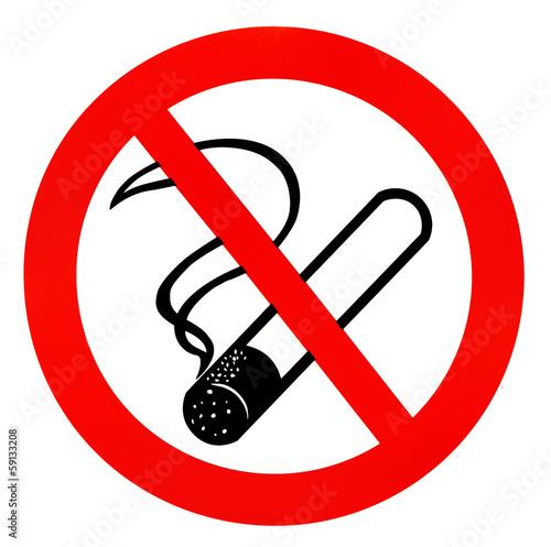 Fotobehang Rook Rauchen verboten