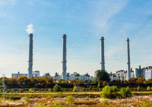 Staande foto Industrial geb. Industrial plant