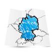 Deutschland Karte Highlight