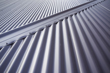 Metal Colourbond Roof In Blue-...