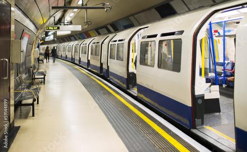 Foto op Canvas Londen Underground in London