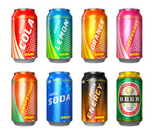 Set Of Drink Cans