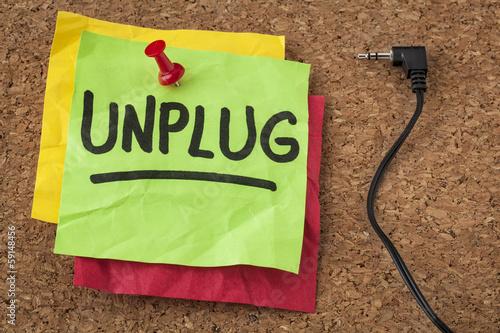Fotografía  unplug - information overload concept