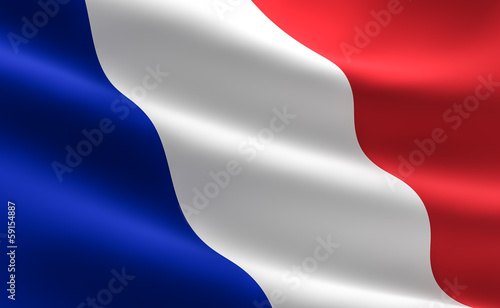 French flag Fototapeta