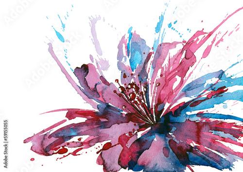 Foto auf Leinwand Gemälde abstract flower