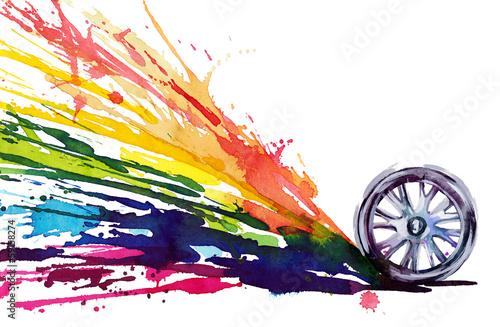 Fotografía  wheel motion