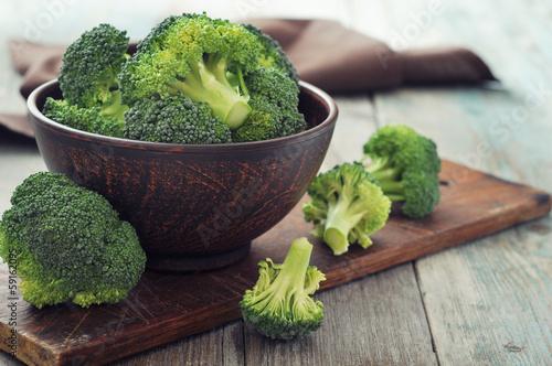 Fresh green broccoli Wallpaper Mural