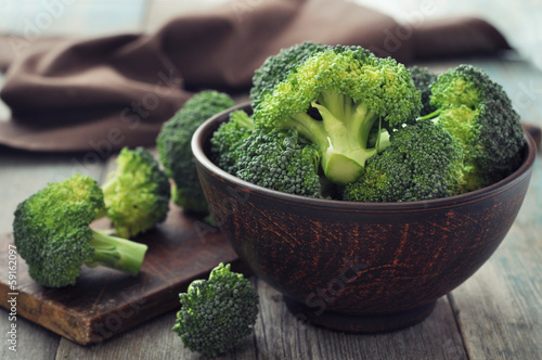 Fototapeta Fresh green broccoli obraz
