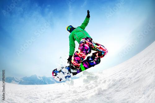 Fotobehang Wintersporten snowboardind