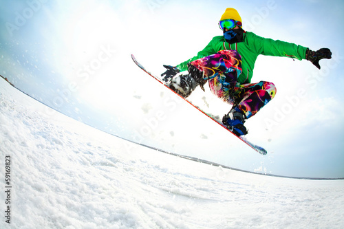 Acrylic Prints Winter sports Extreme winter
