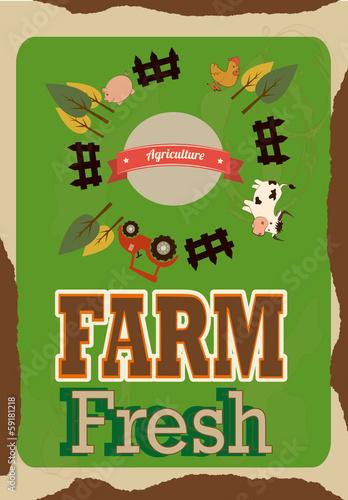 Papiers peints Affiche vintage farm fresh label