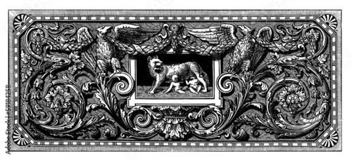 Photo  Ancient Rome : Romulus & Remus - Page Ornament