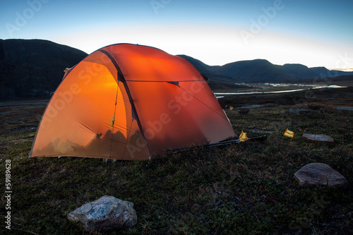 Poster Camping Tent after Sunset