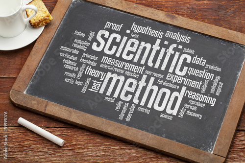 Fotografie, Obraz  scientific method word cloud