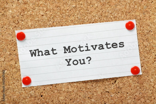 Photo What Motivates You?