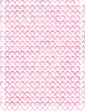 valentine background with pink hearts silhouettes