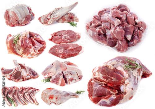 lamb meat Wallpaper Mural