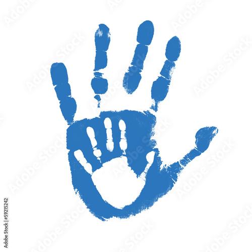 Fotografia, Obraz  Father and son handprints