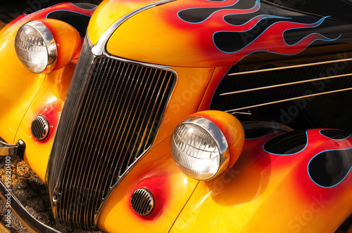 Recess Fitting Vintage cars Hot Rod Flames