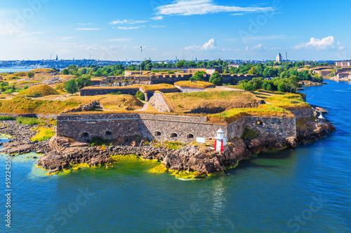 Fotomural Suomenlinna (Sveaborg) Fortress in Helsinki, Finland