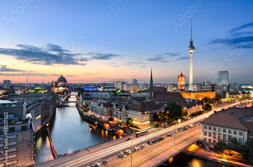 Keuken foto achterwand Berlijn Berlin Skyline Panorama
