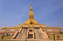 Golden Pagoda Mahamongkol Bua In Roiet Province Thailand
