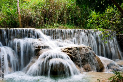Waterfall in Tropical Rainforest - 59245826