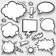 Comic bubbles and elements