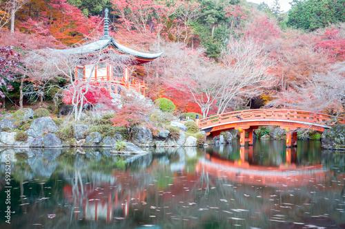 Foto op Aluminium Purper Daigoji Temple Kyoto Japan