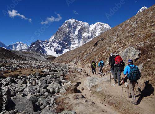 Staande foto Nepal Trekking dans l'Himalaya, Khumbu - Népal