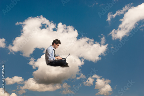 Foto  Man on the cloud