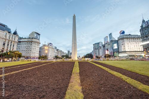 Keuken foto achterwand Buenos Aires The Obelisk (El Obelisco) in Buenos Aires.