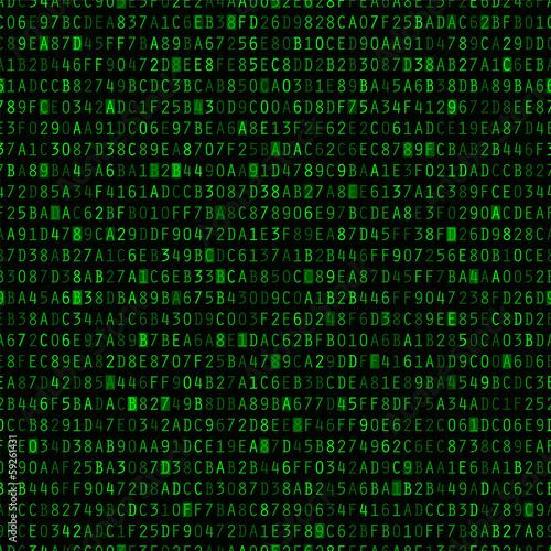 Fotografía  Repeating Hexadecimal Background