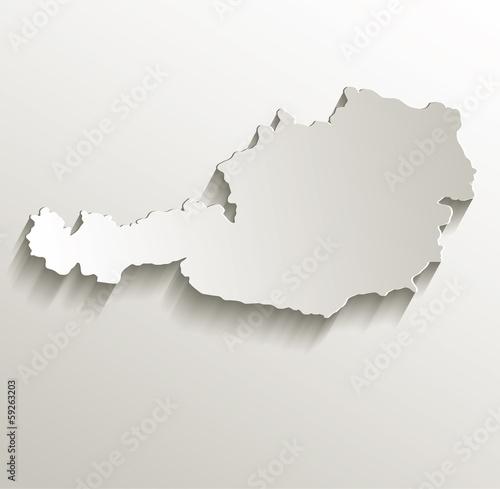 Photo Austria map card paper 3D natural vector