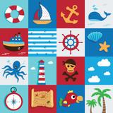 Nautical and Sea Set, Marine icon, pirate